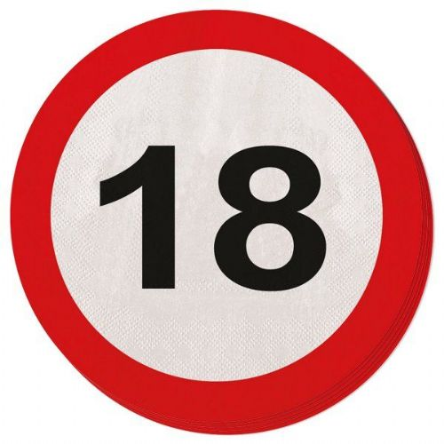 Traffic Sign 18th Party Napkins 20s Birthday Tableware Table Disposables